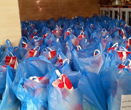 Voedselpakketten weeskinderen en behoeftigen